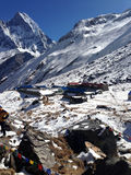 The base camp of Annapurna mountain. Royalty Free Stock Image