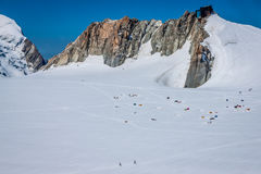 Base camp on Cosmique route, Chamonix, France Stock Photography