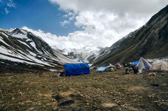 Base camp in Himalayas Stock Photos