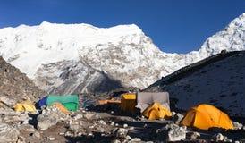 Base Camp of Island Peak (Imja Tse) near Mount Everest Stock Images