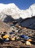 Base Camp of Island Peak (Imja Tse) near Mount Everest Stock Photography