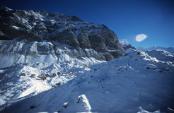 Base Camp of Khan Tengri - Tien Shan.  stock photo