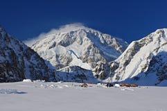 Base camp Mount McKinley. Base camp, climbing to Mount McKinley Royalty Free Stock Photos