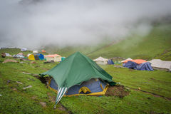 Base Camp Ratti Gali Lake. The Ratti Gali Lake is an alpine glacial lake which is located in Neelum Valley, Pakistan Administered Kashmir at an altitude of 12 stock images