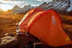 Base Camp under Mt MaKaLu in Tibet Royalty Free Stock Image