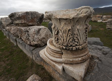 Base and Cap from Corinthian Column Royalty Free Stock Photo