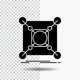 Base, center, connection, data, hub Glyph Icon on Transparent Background. Black Icon royalty free illustration