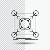 Base, centre, connexion, donn?es, ligne ic?ne de hub sur le fond transparent Illustration noire de vecteur d'ic?ne illustration libre de droits