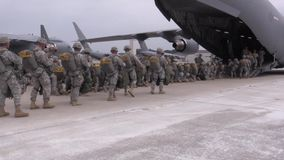 BASE CHARLSTON, MAY 2015, US Air Force C 17 stock video