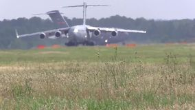 BASE CHARLSTON, MAY 2015, US Air Force C17 stock footage