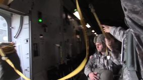 BASE CHARLSTON, MAY 2015, US Air Force Parachute stock video footage