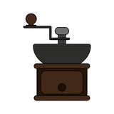 100 BASE. Coffee grinder icon over white background. colorful design. vector illustration Royalty Free Stock Images