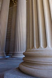 Base of Columns at National Archives Stock Image