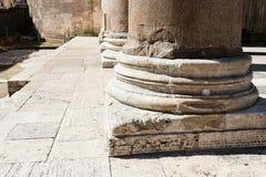 Base of columns, Pantheon Rome, Stock Image