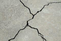 Base concrète criquée de ciment image libre de droits