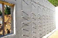 Base concrète de construction Photos stock