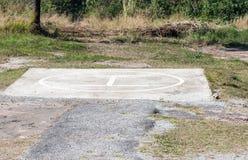Base concreta dell'eliporto Fotografia Stock