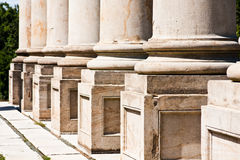 Base of Corinthian Columns Royalty Free Stock Photos