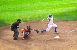 Base David Wright de NY Mets terceira Fotografia de Stock Royalty Free