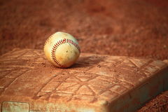 Base de boule de base-ball Images libres de droits