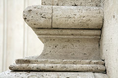 Base de colonne à Rome Photographie stock