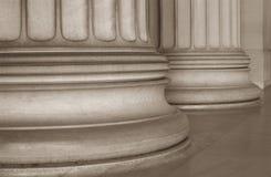 Base de colunas iónicas Fotografia de Stock Royalty Free