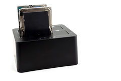 Base de conexión de la unidad de disco duro Imagen de archivo