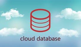 Base de dados da nuvem Imagem de Stock Royalty Free