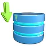 Base de dados da transferência Foto de Stock