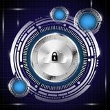 Base de dados de Digitas no fundo do conceito da segurança ilustração do vetor