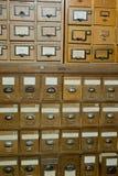 Base de dados do vintage da biblioteca, arquivos foto de stock royalty free