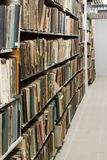 Base de dados do vintage da biblioteca, arquivos imagens de stock royalty free