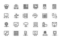 Base de dados e ícones coloridos servidor 4 do vetor Imagem de Stock