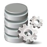 Base de datos de los ajustes Foto de archivo
