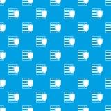 Base de données avec le bleu sans couture de modèle de bouclier Photographie stock libre de droits