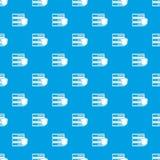 Base de données avec le bleu sans couture de modèle gris de bouclier Photo stock