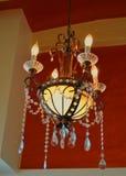 Base de iluminación cristalina antigua Foto de archivo