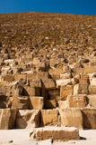 Base de Khufu Cheops de pyramide de Giza de signe Photo stock