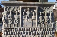 Base de l'obélisque de Theodosius Image stock