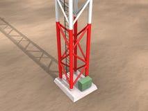 Base de la antena del metal Imagen de archivo libre de regalías