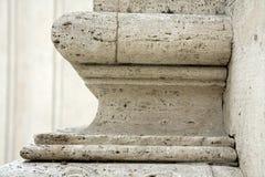 Base de la columna en Roma Fotografía de archivo