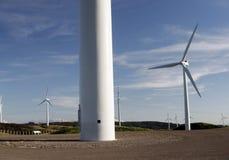 Base de la turbina de viento Imagen de archivo libre de regalías
