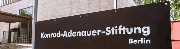 Base de stiftung de Konrad adenauer d'Allemand image libre de droits