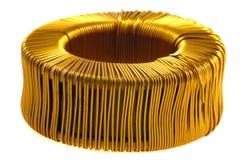 Base del alambre de cobre Imagen de archivo