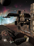 Base del espacio en un planeta lejano Fotografía de archivo libre de regalías