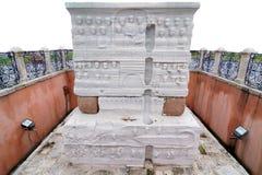Base del obelisco egipcio Imágenes de archivo libres de regalías
