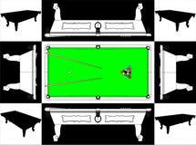 Base del vector de billar de los billares y vector 01 de la cara Imagen de archivo