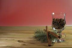Base della cartolina di Natale Fotografia Stock