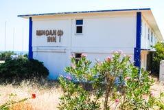 Base delle forze aeree abbandonata Creta, Grecia degli Stati Uniti immagini stock libere da diritti