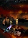 Base dello spazio sul pianeta Marte Fotografie Stock Libere da Diritti